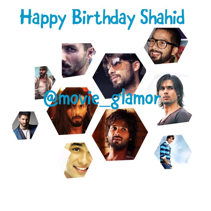 wishes all the success to the B-town versatile actor ..  Happy Birthday Shahid Kapoor