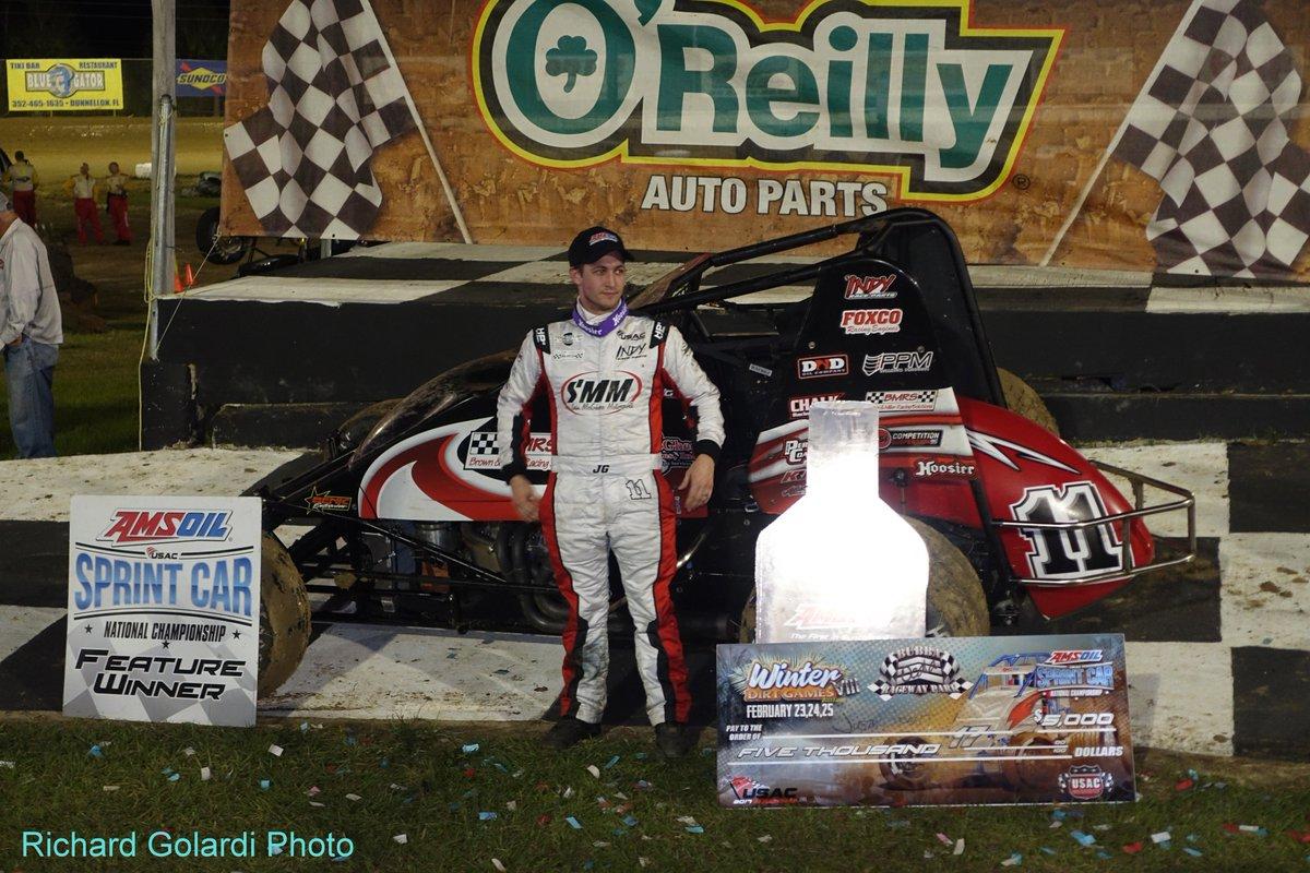 Florida open wheel on twitter justin grant feature race winner usac amsoil sprint car national championship bubba raceway park ocala fl friday