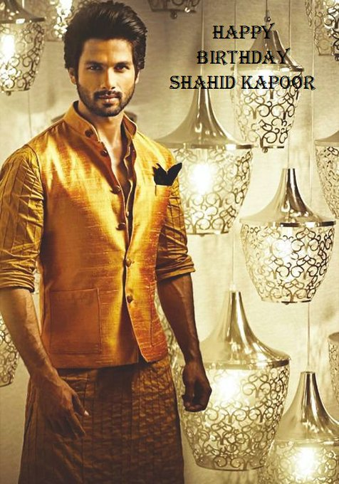 Wish Shahid Kapoor a very Happy :)  Like or comment or share or to wish.