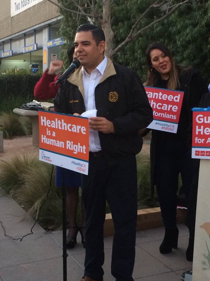 Great rally in #LongBeach. Mayor @RobertGarciaLB is the first mayor in the state to endorse #SB562 #health4all #healthyca #medicare4all <br>http://pic.twitter.com/bZ2h97Iv24