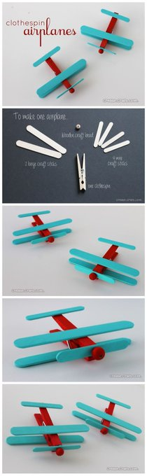Diy Clothespin Airplanes Tutorials