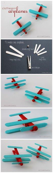 Diy Clothespin Airplanes Tutorials