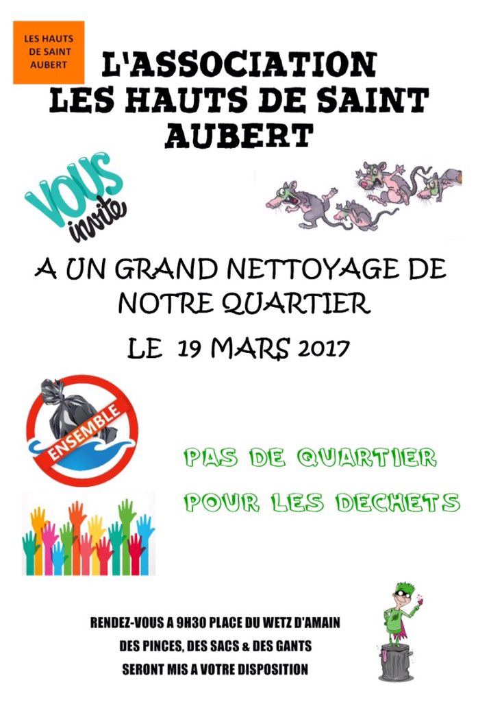&quot;Pas de quartier pour les #déchets&quot; à #Arras le 19 mars prochain : tout le monde est bienvenu. #environnement cc @SMAV62<br>http://pic.twitter.com/Ffkppki5M0