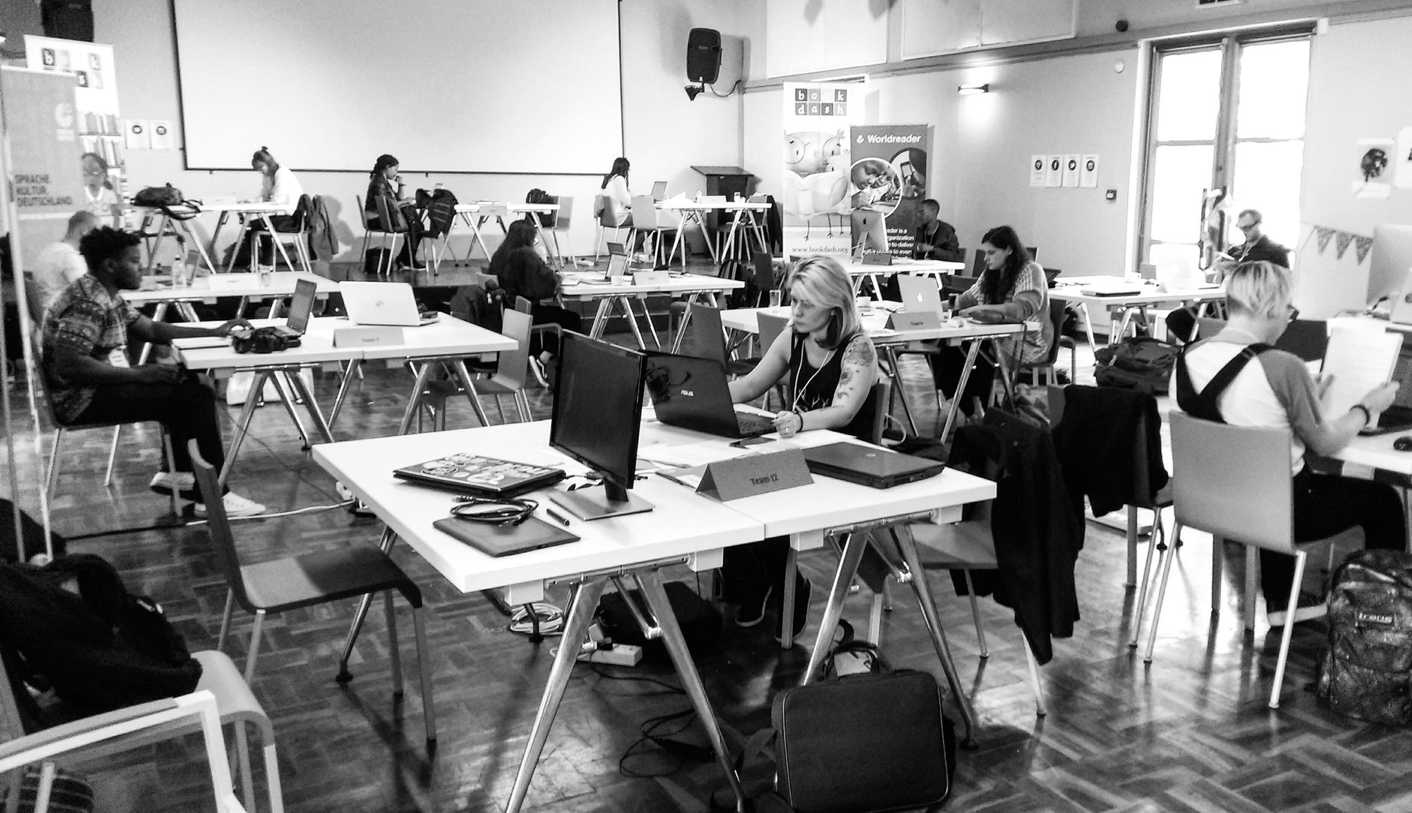 The designers are also hard at work prepping for the (long) day ahead at @bookdash. #BookDashPlus #BookDash @worldreaders @goethejoburg https://t.co/CEFo8nMIf4