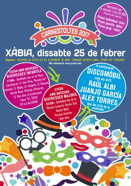 #Carnaval #2017 in #Javea #Xabia #LasDunasJavea has no #Energy or #Rhythm! #Partying &amp; #Prizes from 11pm #OldTown<br>http://pic.twitter.com/A2qGqrBvCc