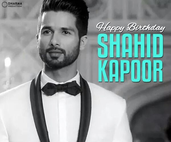 Wishing the Shaandaar boy, whose looks can kill & acting can steal hearts, a very happy birthday! Shahid Kapoor