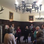 Starting our Women writers as Art Critics day with a tour of the portraits held at Chawton House by Stephen Lloyd