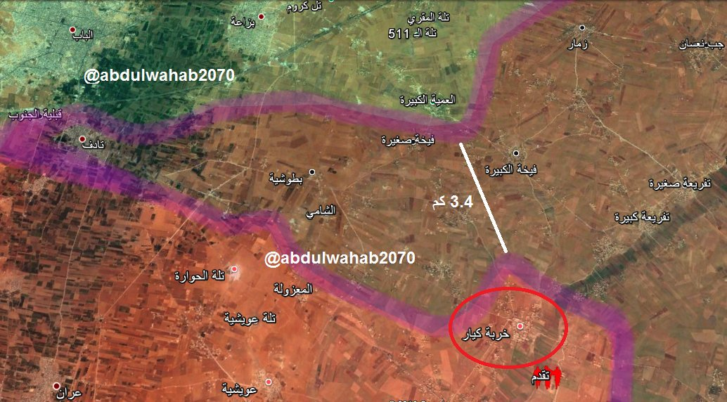 #Syria #Assad-forces continues advance to connect to  #Manbij/#SDF area south of #alBab  #EuphratesShield stopped advance?! <br>http://pic.twitter.com/9dUODLPxhX