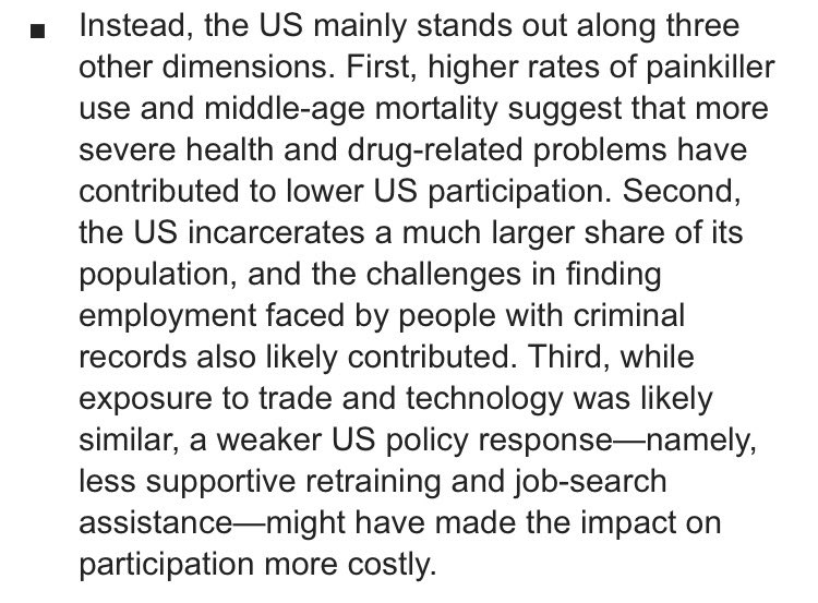 Why is US prime-age labor participation rate lower than in most other advanced economies? Goldman Sachs offers an explanation: