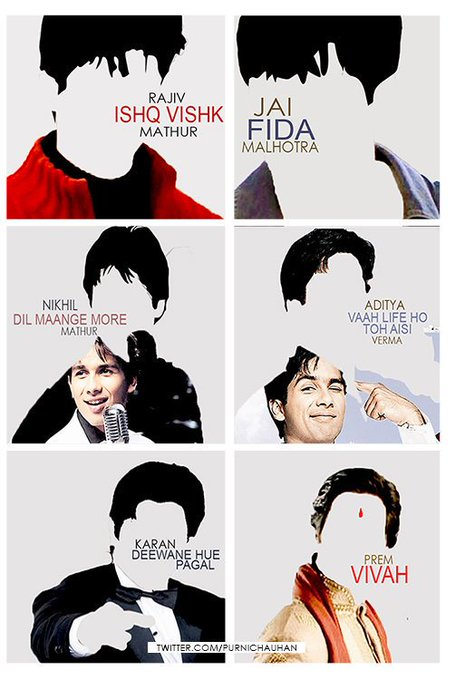 FROM ISHQ VISHK TO SHAANDAAR Happy Birthday Shahid Kapoor by via