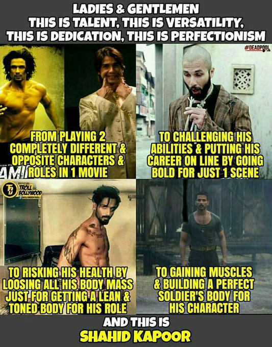 Presenting you the new PERFECTIONIST of Bollywood! Happy Birthday Shahid Kapoor