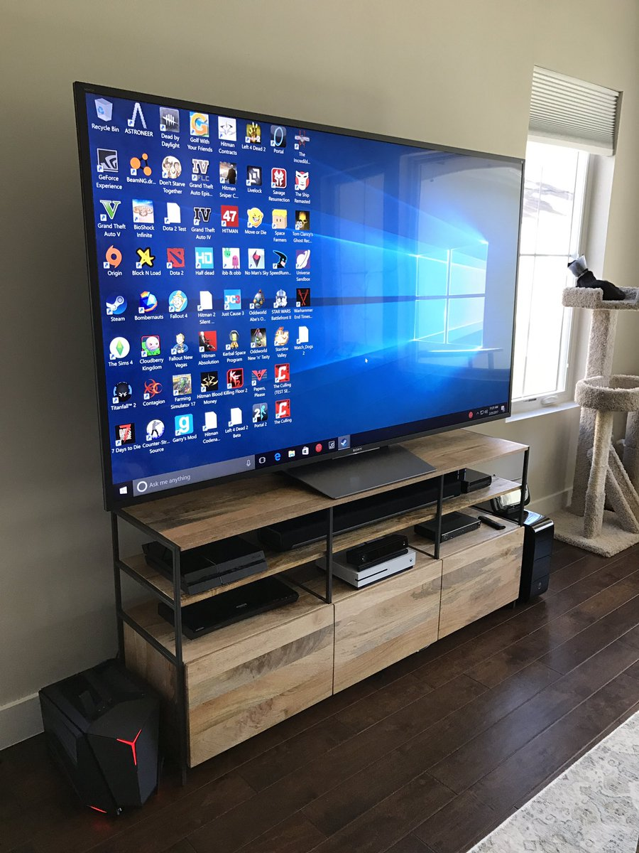 Been Testing Out A PC In The Living Room The Last Few Days. I Love It. 4K  Gaming At 60fps On My TV. I Never Want To Turn On My Xbox  Anymore.pic.twitter.com/ ...