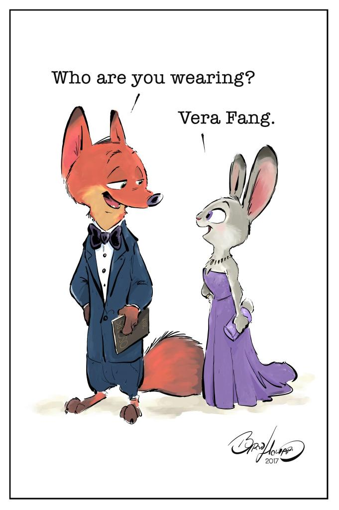 Red-carpet ready from head to tail.  (🎨: #Zootopia Director @ByronPHow...