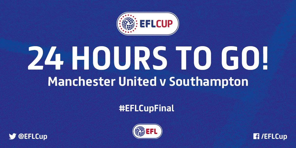 This time tomorrow... 😬  ⚽️ @ManUtd v @SouthamptonFC 🏆 #EFLCupFinal  📍...