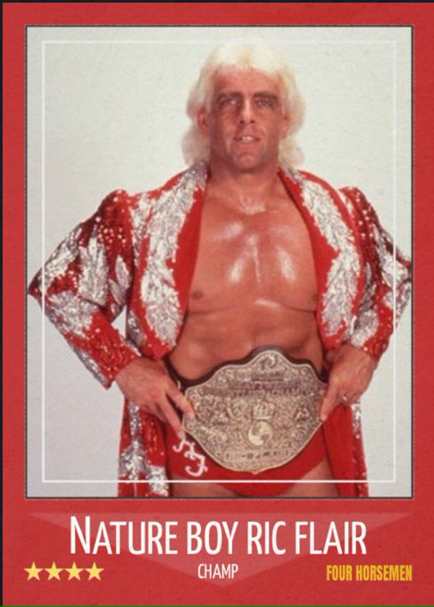 Happy 68th birthday to the best thing going today, Whoooo, Ric Flair.