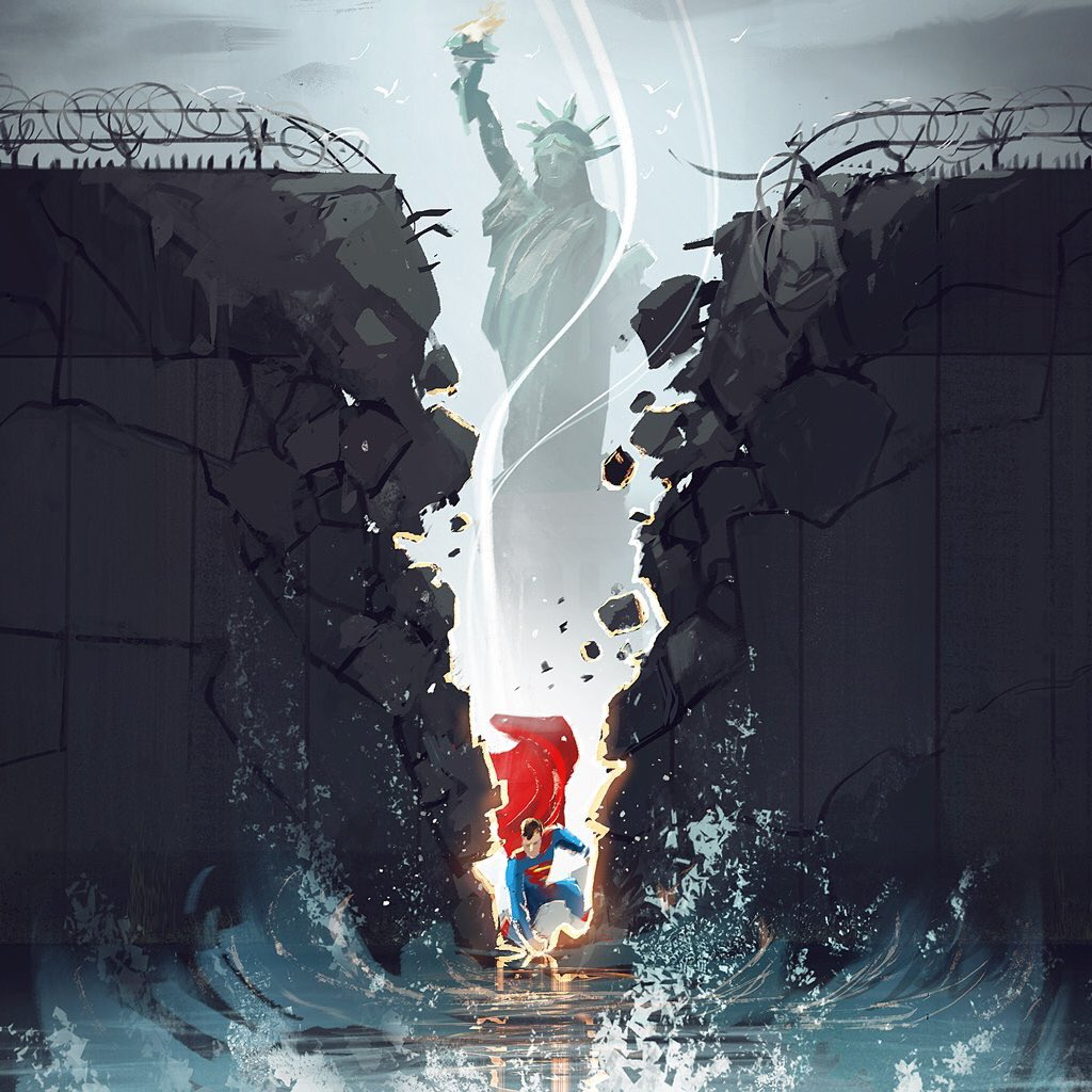 They Were Tearing Down Liberty >> Comicbook Debate On Twitter Superman Tearing Down The Wall