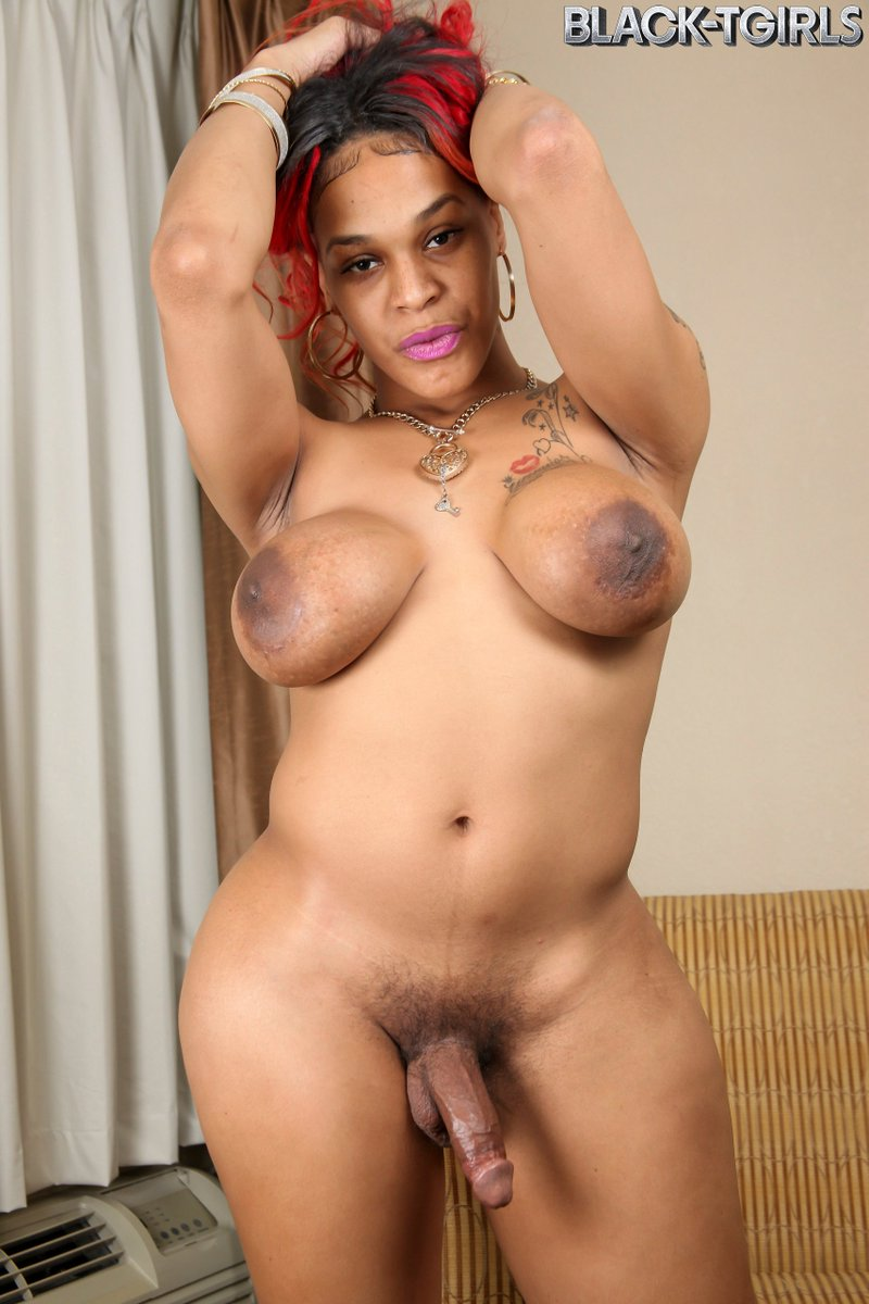Black tranny jerking off-3403