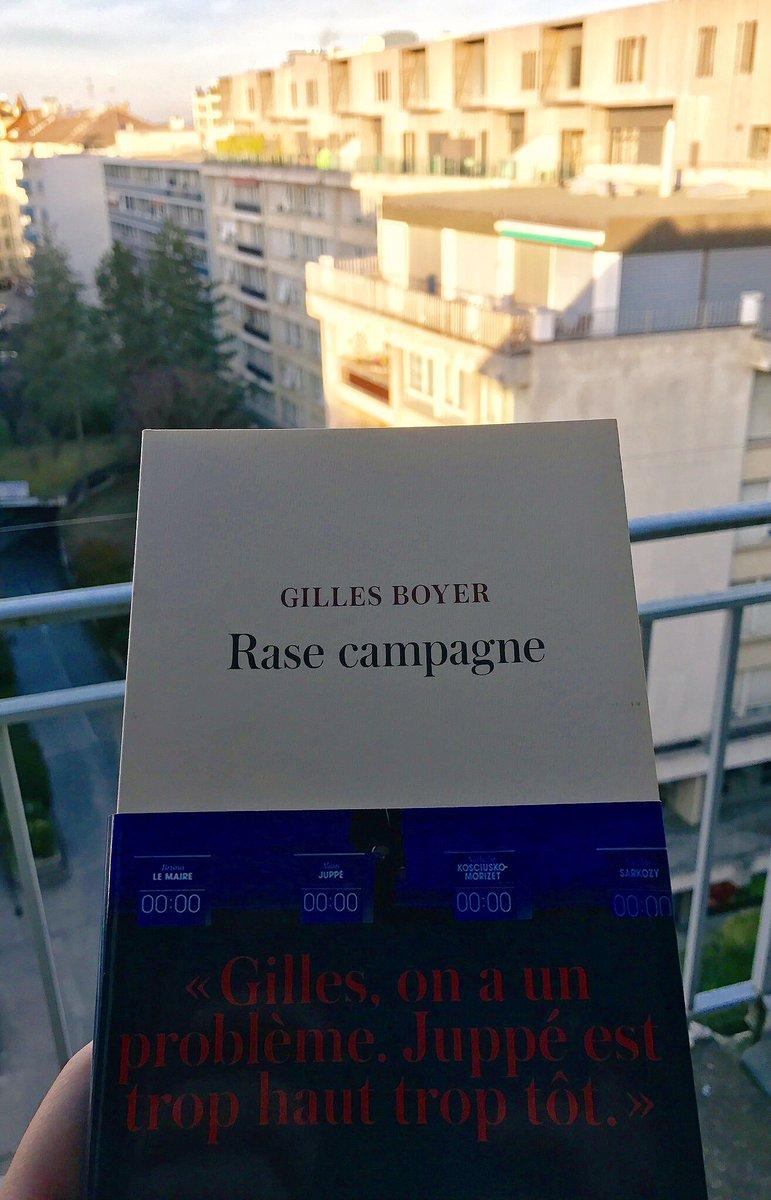 Un peu de lecture pr finir cette journée sous le soleil genevois 😎 .@GillesBoyer #RaseCampagne