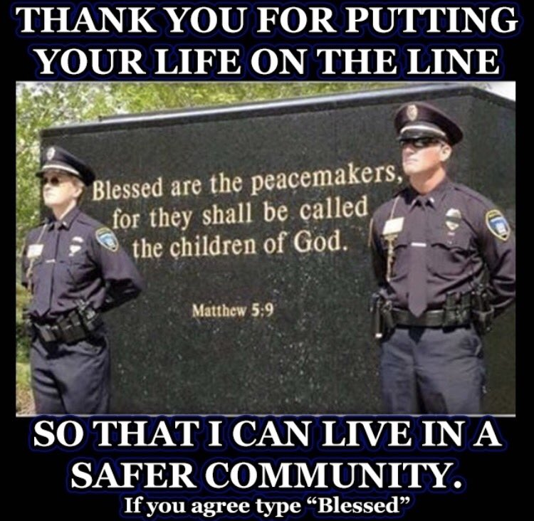 I feel #blessed for all the #firstresponders and #military that put ME BEFORE THEMSELVES (#repost form @back.the.badge on IG)<br>http://pic.twitter.com/H0RTAWFNC7