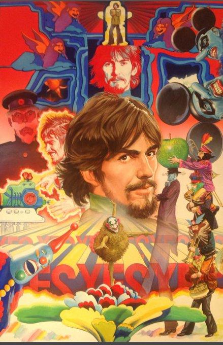 Happy Birthday to George Harrison. Art by Alex Ross