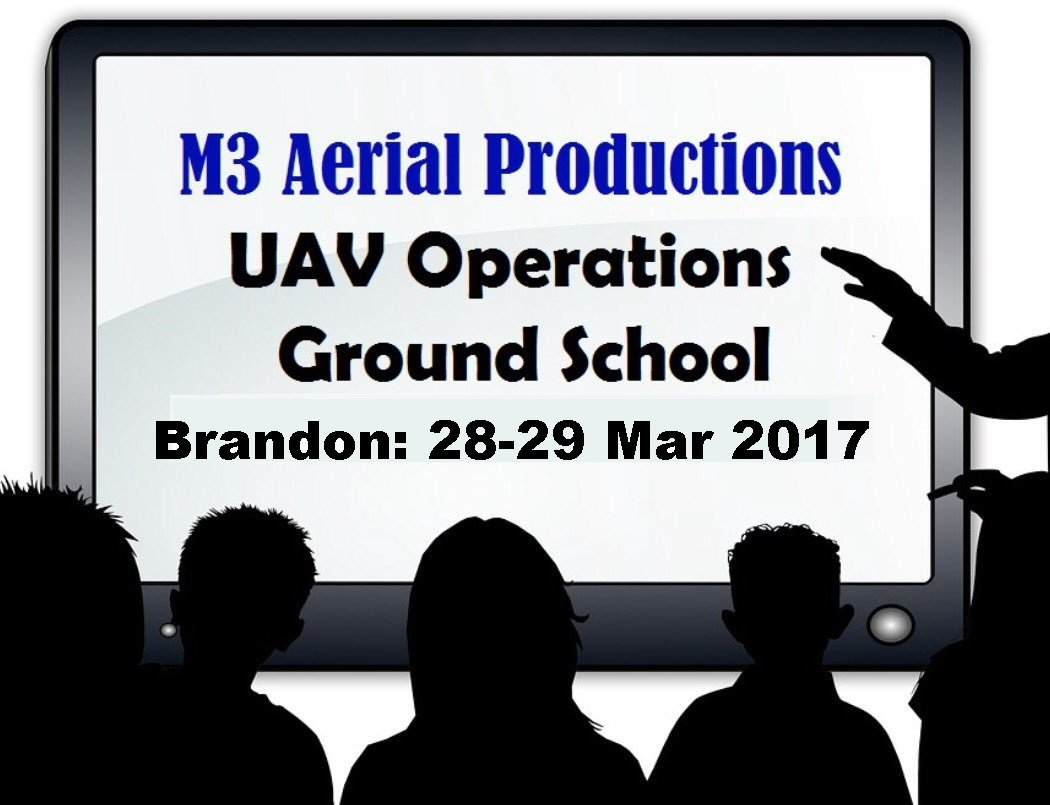 The next #UAV Ground School Course is #Brandon #Manitoba 28-29 Mar 2017. There is a smaller than usual capacity so #register today! #drones<br>http://pic.twitter.com/1iqQRCWcRf