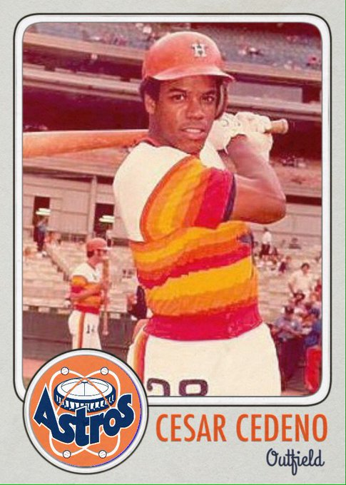 Happy 66th birthday to Cesar Cedeno. Maybe the most gifted NL player of the 70s.