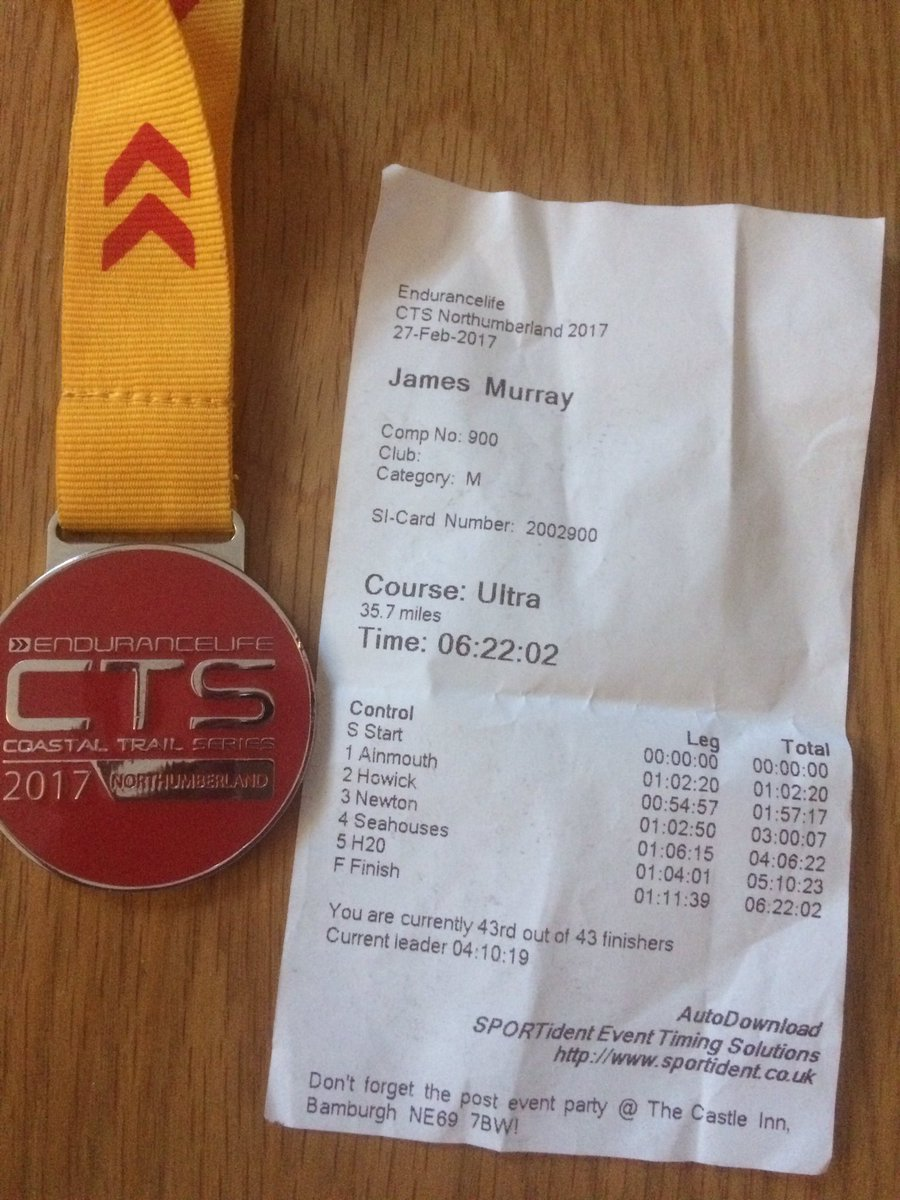 Huge thanks to @endurancelife for a great event at #CTS #Northumberland #Ultramarathon   <br>http://pic.twitter.com/DcRw2zzaPg