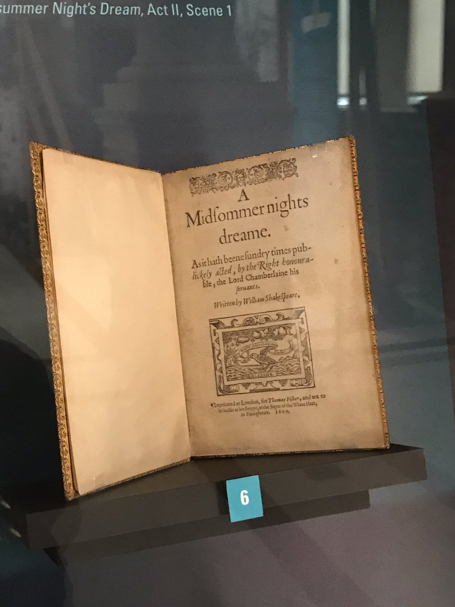 Thomas Hallal On Twitter Rare 1st Edition Of A Midsummer Night S Dream Among Rarest And Most Valuable Books In The World Elite Shakespeare Exhibit At