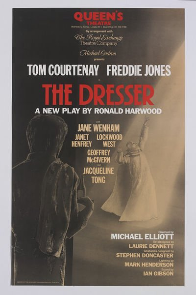 Happy birthday to Tom Courtenay; poster for 1980 production of THE DRESSER. Via
