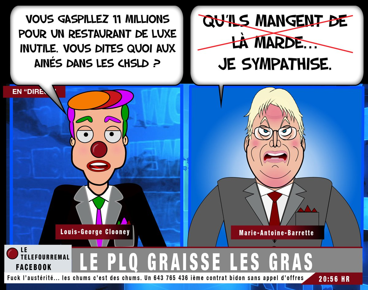 Austérité pour toi... le buffet bar open pour les chums ! #chsld #polqc #assnat #cdnpoli #austerite #barrette cc @JeanBottari<br>http://pic.twitter.com/2Vqo205tgX