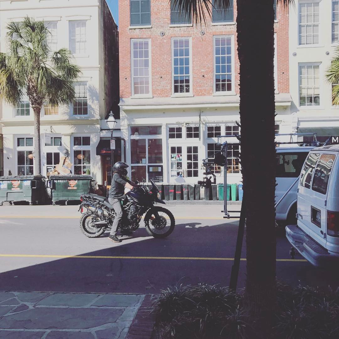 Norman&#39;s ready to head out for another adventure. #NormanReedus #Charleston lemontreerealty IG <br>http://pic.twitter.com/8rEnYumKET