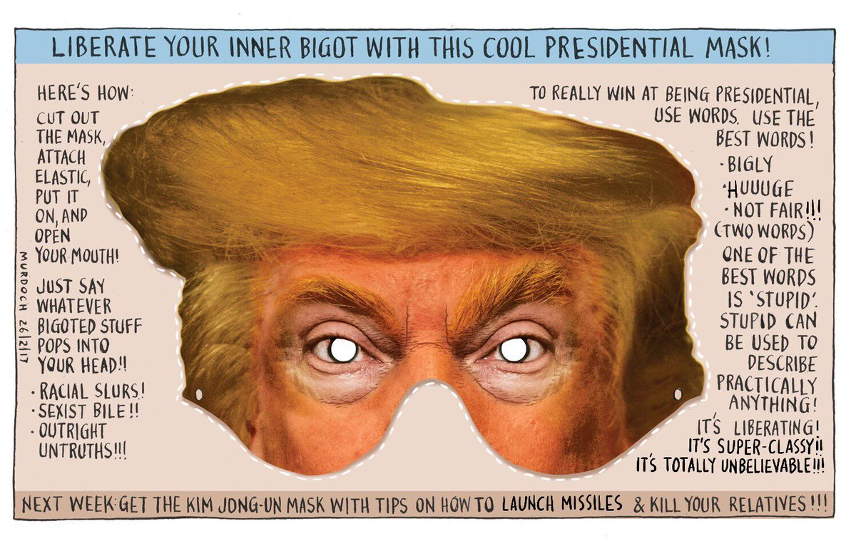 This week, get this cool Presidential mask! My @SundayStarTimes #cartoon #USPolitics #TRUMP #NewWorldOrder #scaretheneighbours<br>http://pic.twitter.com/TsAgZAFOK6