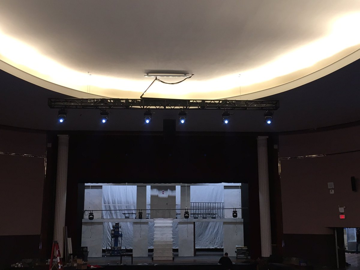 Malverne Music On Twitter Look Up At The Ceiling Lighting Truss Has Been Installed In HTHMiddleSchool Auditorium Gomules Districtop Sgilhuley