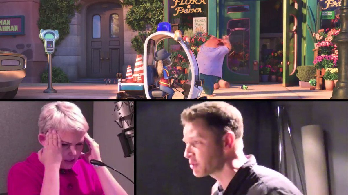 Ginnifer Goodwin and Josh Dallas's recording session for #Zootopia wil...