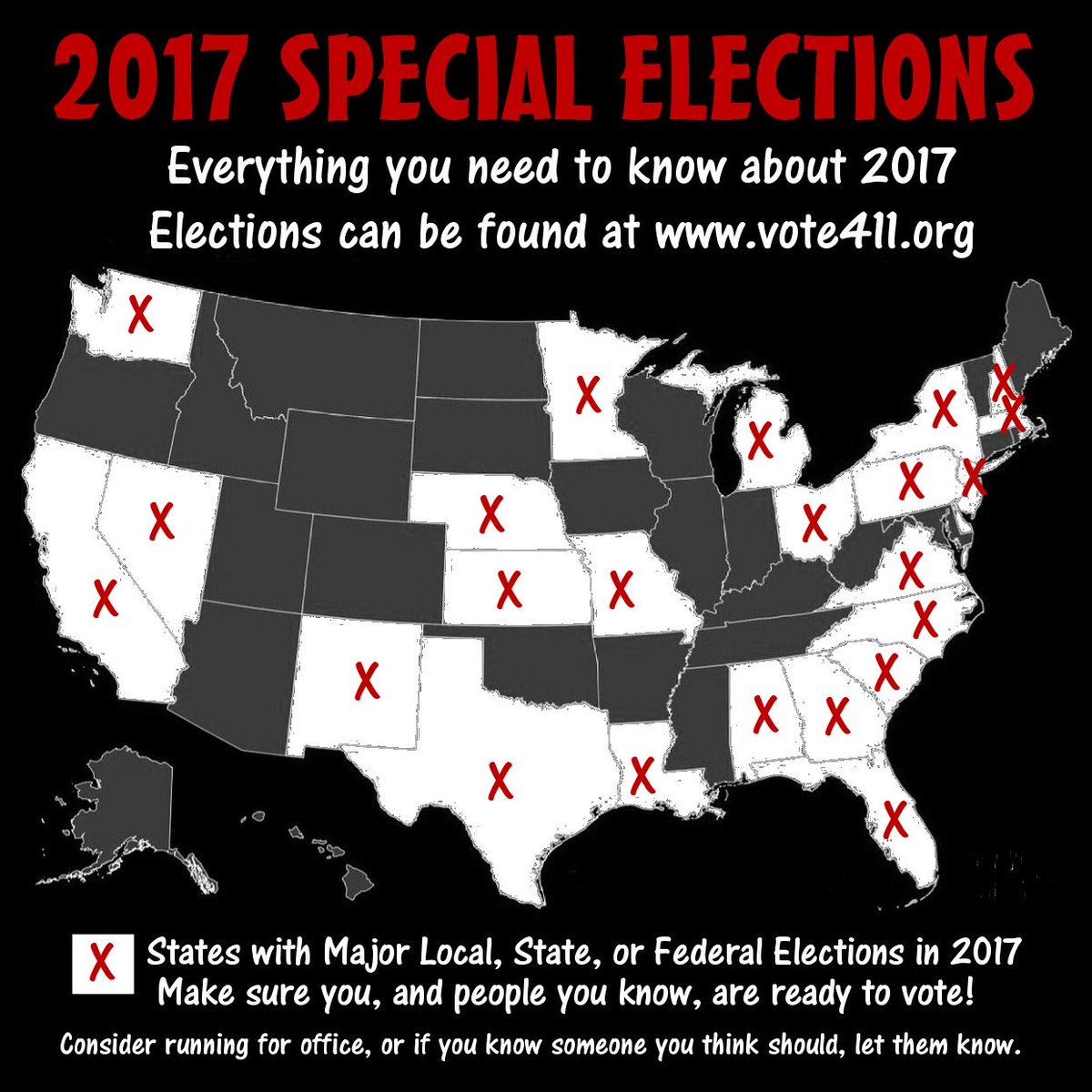 #TheResistance  Is a special election happening in your area?  2017 elections:  http://www. vote411.org / &nbsp;    Make sure you can &amp; do vote!<br>http://pic.twitter.com/o8xUaUNnxl