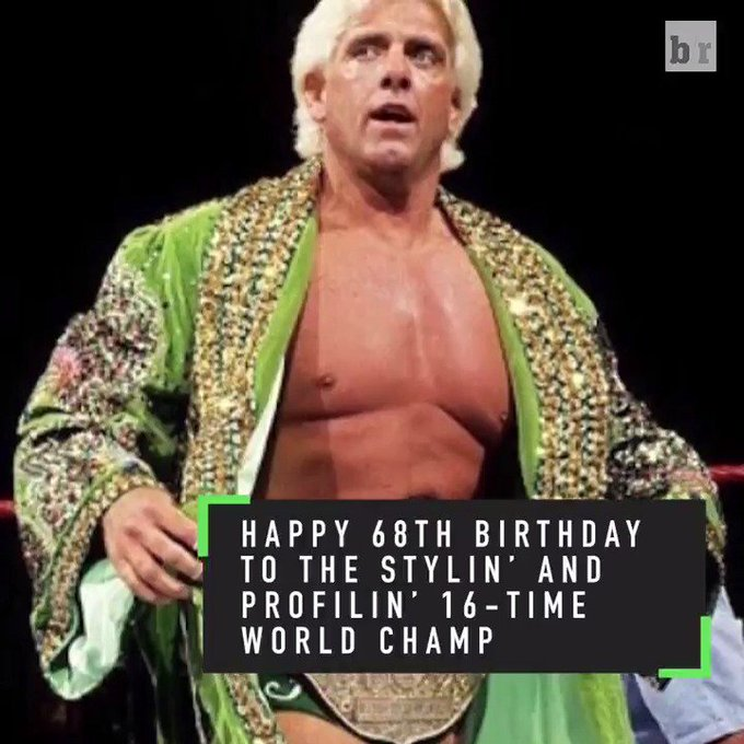 Wooooo!   The Nature Boy is surely celebrating today. Happy birthday, Ric Flair!