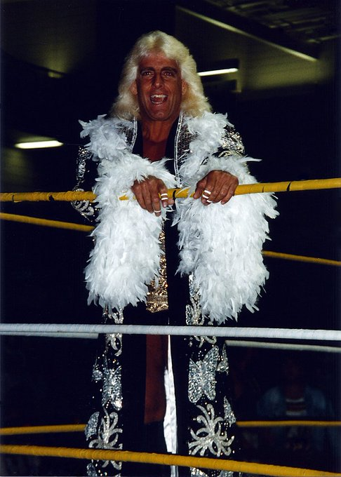 "Custom made from head to toe. Happy birthday to ""Nature Boy\"" Ric Flair."