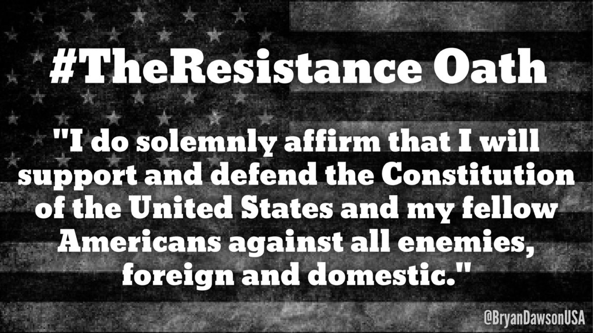 Join #TheResistance - Take the oath, retweet, and, most of all, remember: Silence = Consent  #TakeTheOath #Resist<br>http://pic.twitter.com/4pxCt6yUtQ