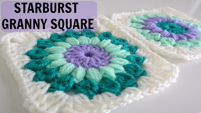 How to Crochet a Starburst Granny Square