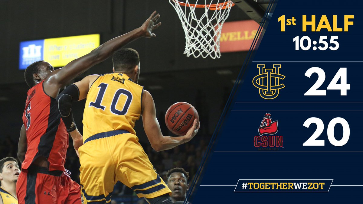 'Eaters up 4 midway through the first. Luke's got a team-high 10 points. #DefendTheBren