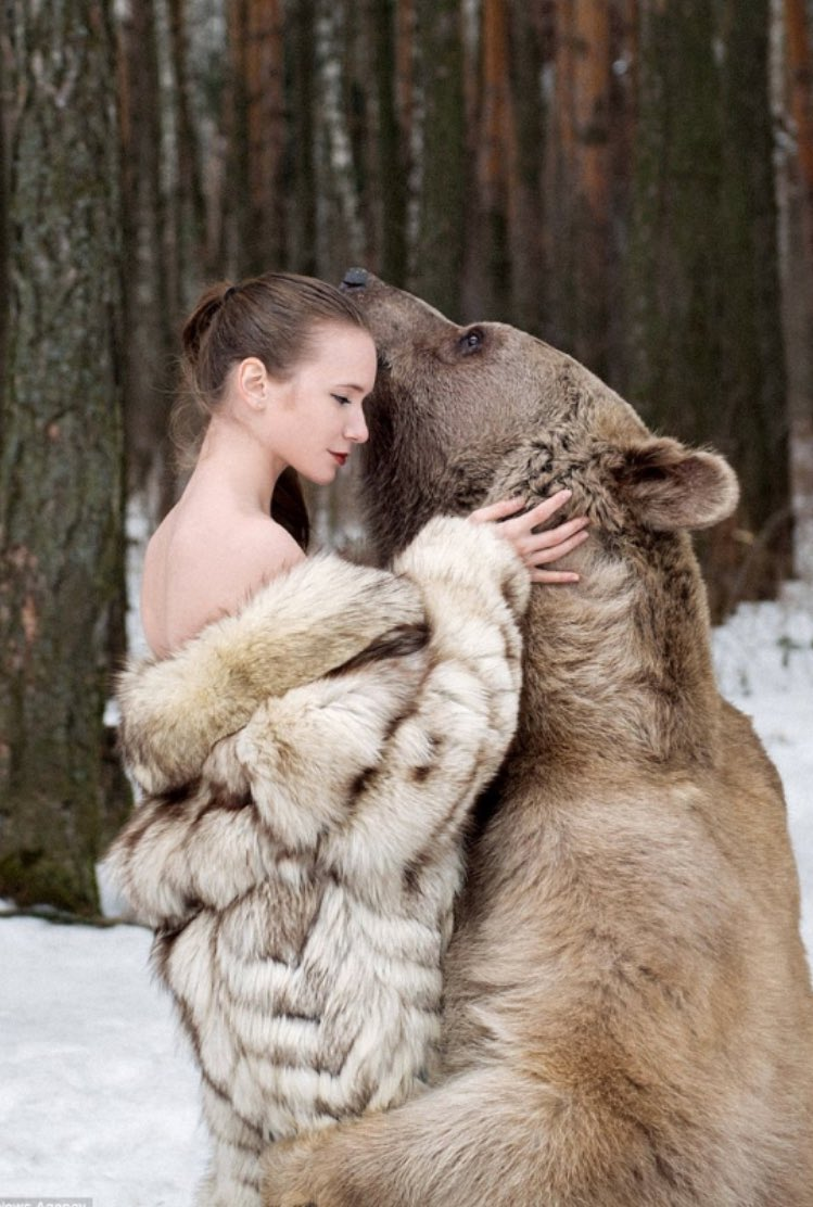 Girl have sex with bear