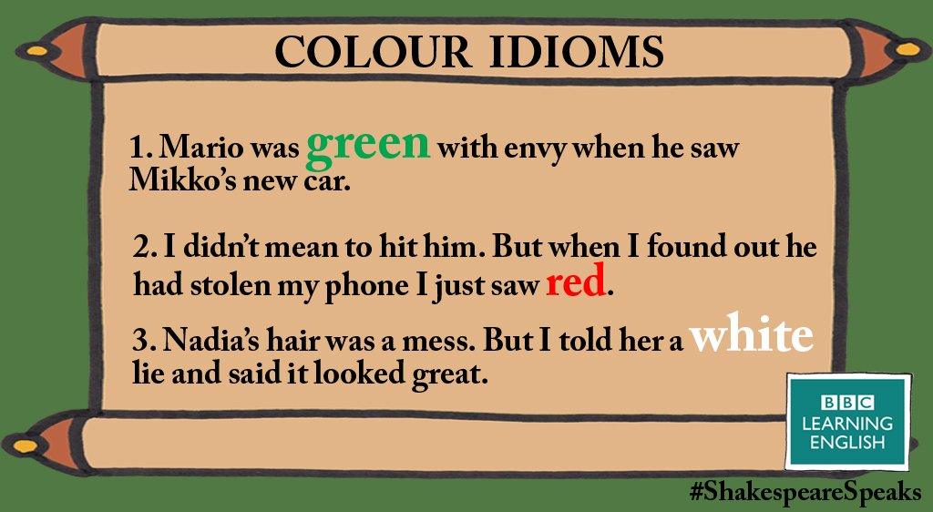 Here are 3 #idioms with #colours for you to share. More here:  http:// bbc.in/2msht3E  &nbsp;   #learnenglish<br>http://pic.twitter.com/jt0vkGI40G