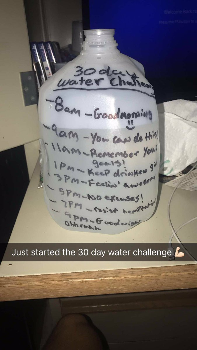 Yepp, let's see how this goes 🤘🏻 #30DayWaterChallenge
