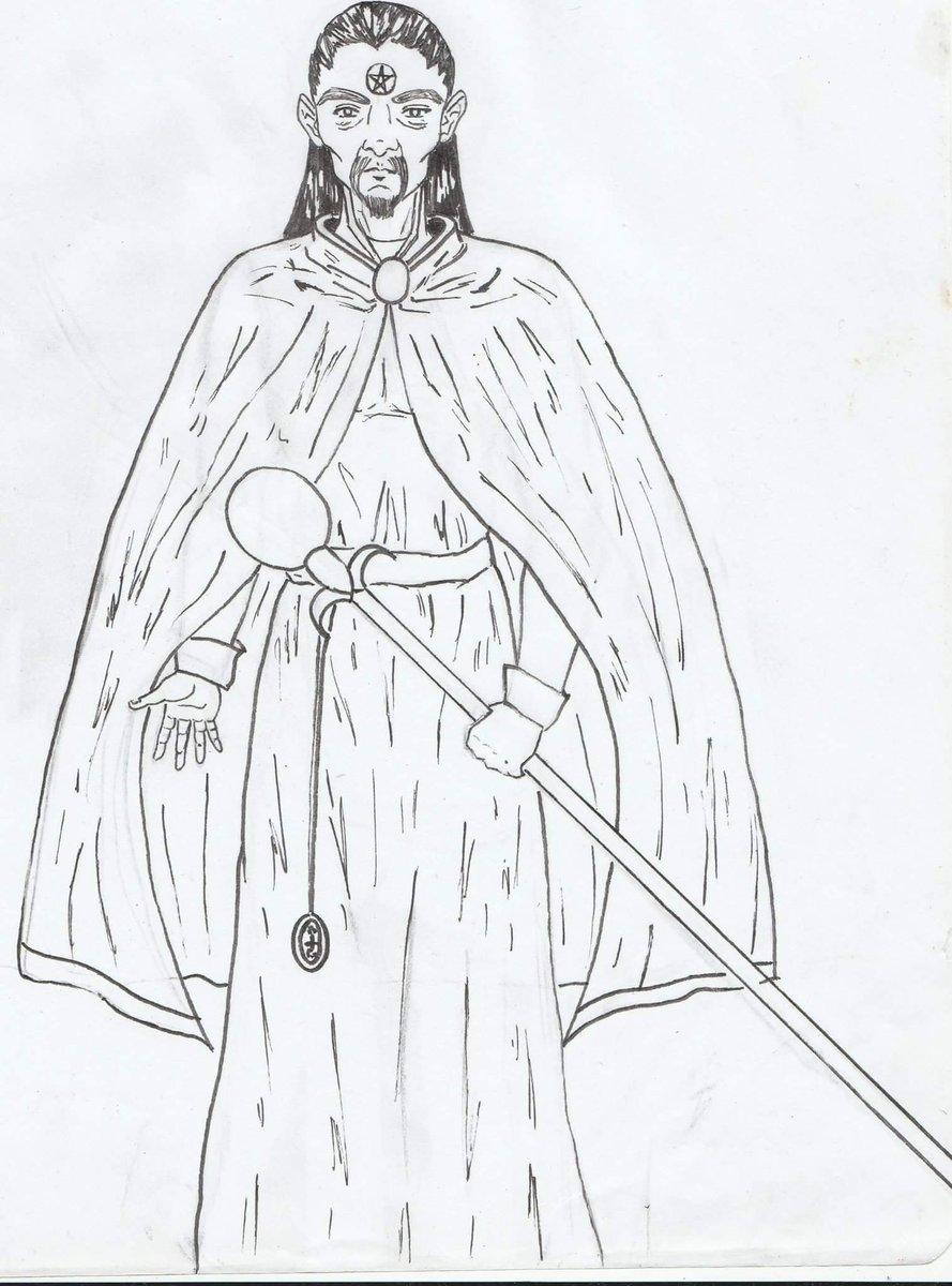 Tema de hoy: Mago Medieval. Lobito presenta un mago satánico. #Ilustraciones #Dibujos #Magia #Magos #Pastillaastronautica<br>http://pic.twitter.com/ExOICYCOV9