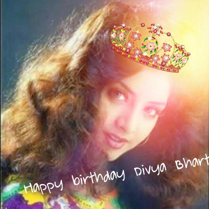 Happy birthday to princess Divya Bharti