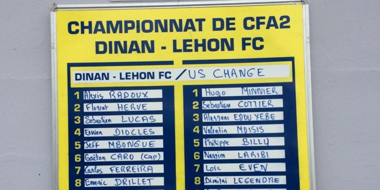 #CFA2 Première titularisation hier soir à @dinanlehonfc avec US #Changé 1-1 score final ! <br>http://pic.twitter.com/dXjOFff8Qe