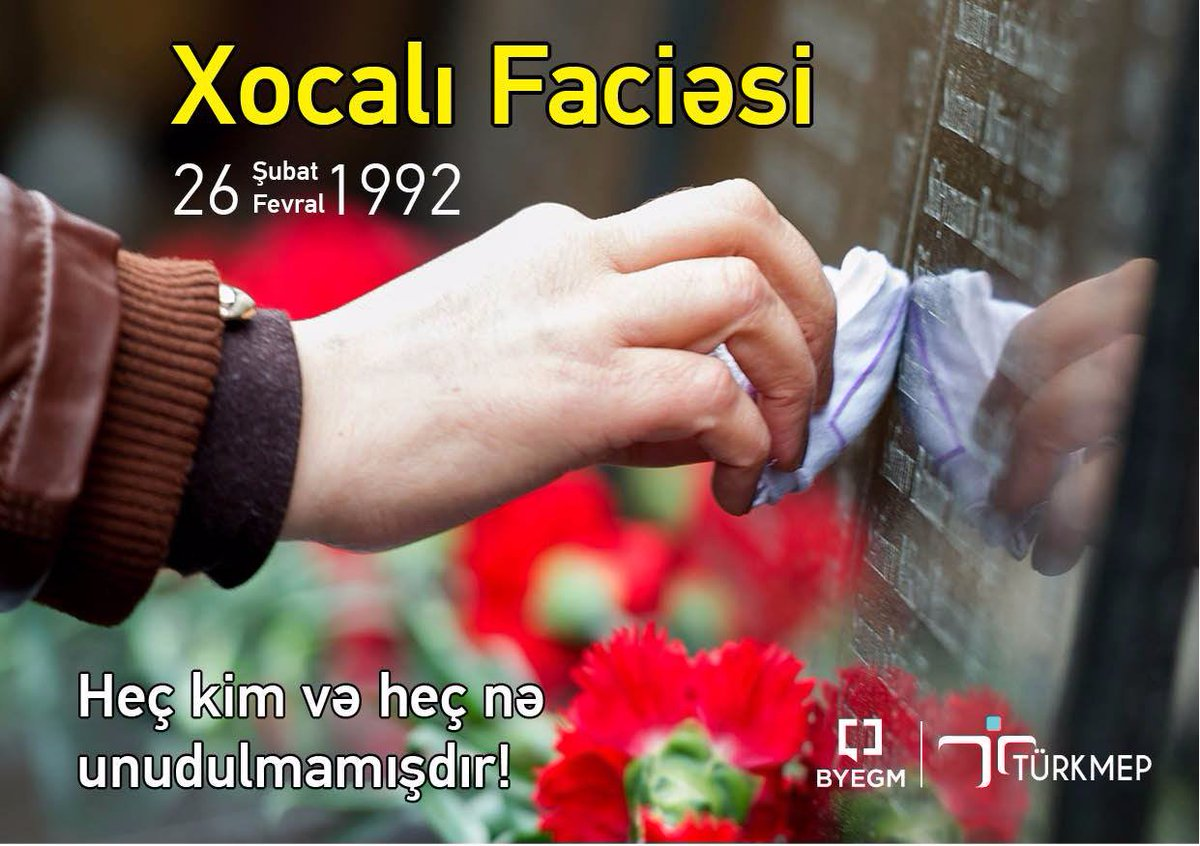 Ortak acımız #HocalıKatliamı'nın 25. Yıl Dönümü'nde Hocalı Şehitlerimi...