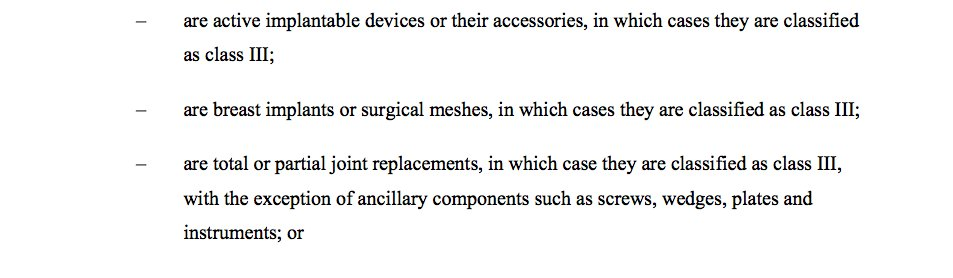 Surgical #mesh is being reclassified to a higher risk medical device #implant #safety See p470  http:// data.consilium.europa.eu/doc/document/S T-10728-2016-INIT/en/pdf &nbsp; … <br>http://pic.twitter.com/T0Pj5UyCf4