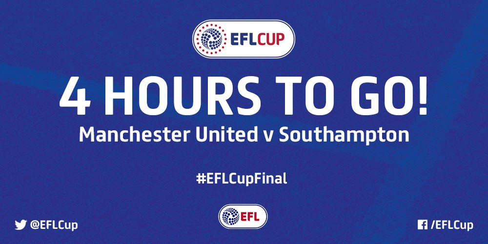 4️⃣ hours to go!  @ManUtd versus @SouthamptonFC is drawing ever closer...