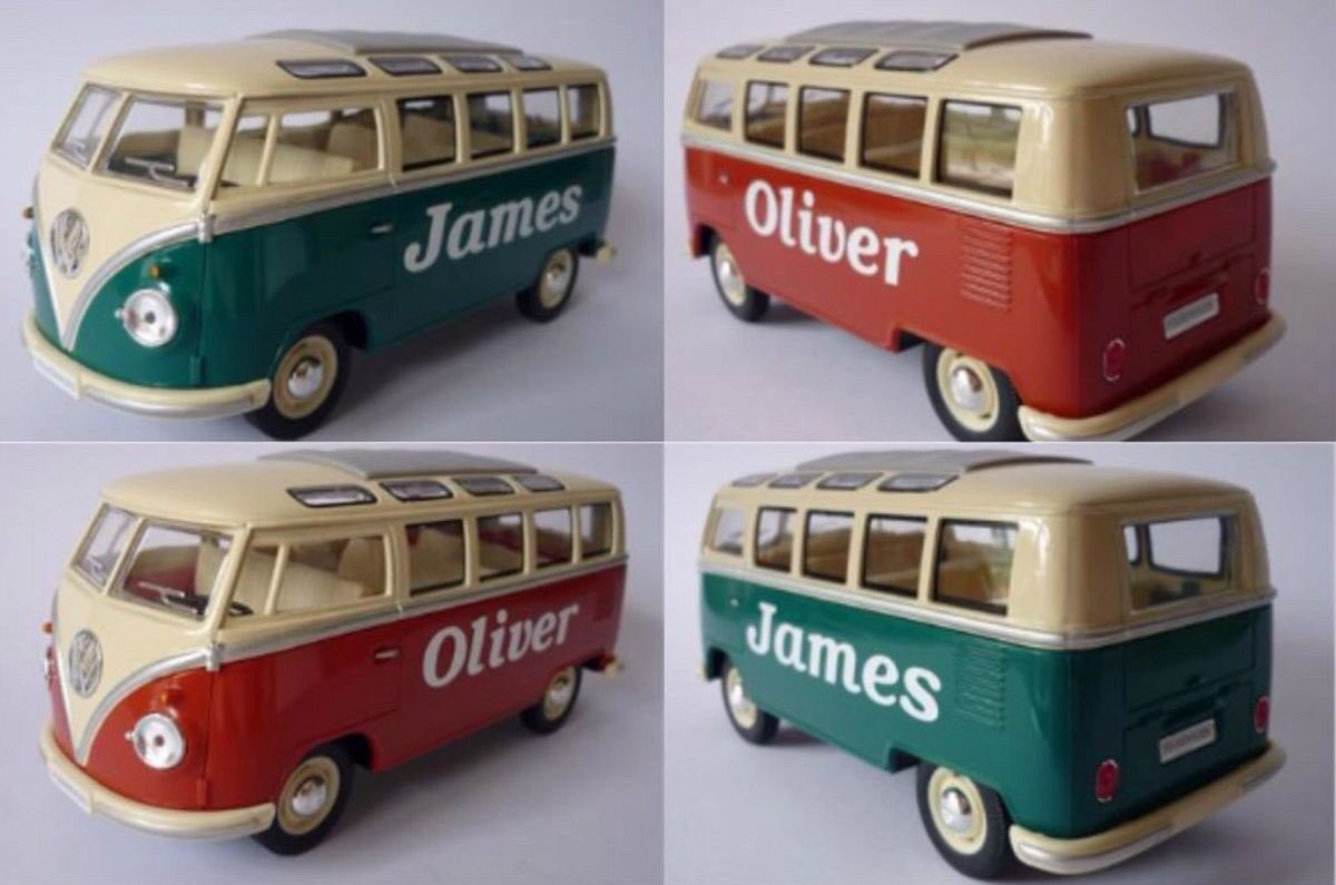 PERSONALISED NAME VW Camper Van 17cm 1-24 scale Toy/Model.Choose any name you wish  https://t.co/QSYnjNddGc https://t.co/QdrvbtkCpt